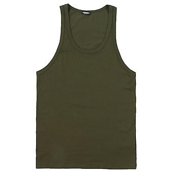 Dsquared2 Stretch Cotton Tank Top - Army Green