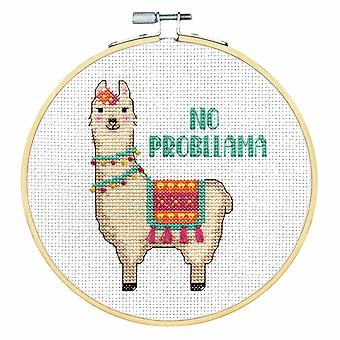 Dimensions Counted Cross Stitch Kit: with Hoop: No Probllama