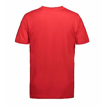 ID juego Mens clásica guarnición Regular manga redondo cuello camiseta