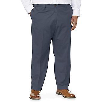 Essentials Męski Big & Tall Luźny opasek Odporny na zmarszczki Płaskie spodnie Chino od DXL, Czarny, 56W x 28L
