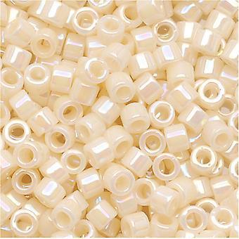 Miyuki Delica Beed Beads, Tamaño 10/0, 8 Gramos, Crema Opaca AB DBM0157