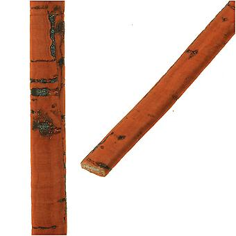 Final Sale - Mini Flat Portuguese Cork Cord by Regaliz, 5x1.5mm, Orange, by the Inch
