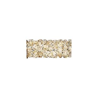 """קריסטל סברובסקי, #5951 חרוז שפופרת סלעים משובחים 15 מ""""מ, חתיכה אחת, צל זהב קריסטל"""