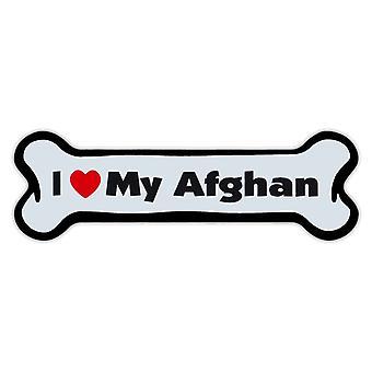 """المغناطيس، الكلب العظام، وأنا أحب بلدي الأفغانية، 7 """"X 2"""""""