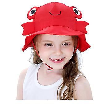 Kesä taapero, Baby Kids,, Sarjakuvahahmo Aurinkokorkki hattu, Pehmeä Puuvilla Fold