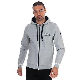 Men's Lacoste Novak Djokovic Zip Hoody in Grey