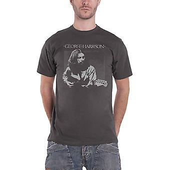 George Harrison T Shirt Live Shot portrait Logo official mens Grey