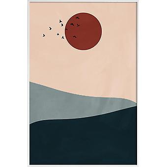 JUNIQE Print - Howl - Paysages abstraits Poster en Coloré