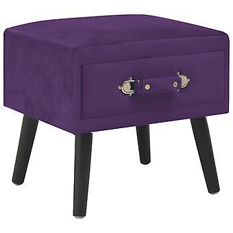 vidaXL Nachtkastjes 2 stuks Donker violet 40 x 35 x 40 cm Fluweel