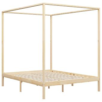 vidaXL pylväs sängyn runko massiivipuu mänty 160 x 200 cm