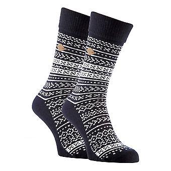 2 Pk mens fairisle formal lana mezcla de calcetines de vestir