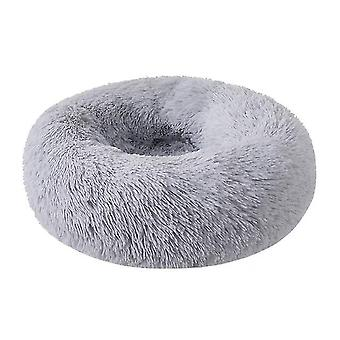 60X20cm szürke kutya macska bedround önmeleg nyugtató kisállat bedsoft kiskutya kanapé x7836