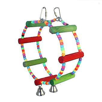 Nové ptačí papouščí hračky přírodní dřevěné žvýkací kousnutí lezení puzzle ES2168