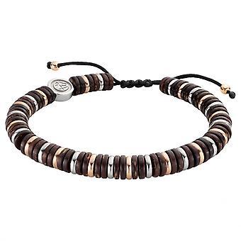 Bracelet Homme  Zeades TANZANIA PM6 - ZMB02568 Acier Marron