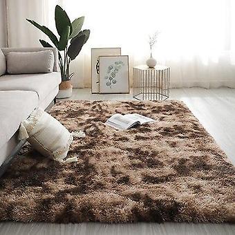 Long Hair Table Rug Bedroom Room Bay Bedside Carpet - Set 1