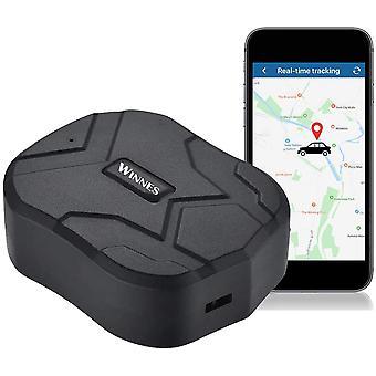 Winnes GPS Tracker, Vodotesný 5 mesiacov standby nabíjateľný tracker a anti-lost GPS lokátor pre vozidlo auto nákladné auto truck v reálnom čase anti krádeže sledovacie zariadenie GPS lokátor (čierna)