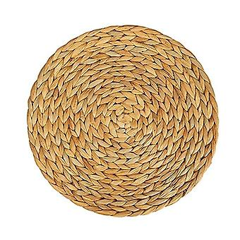 Natural Water Gourd Woven Placemat, Round Rattan Table Mat