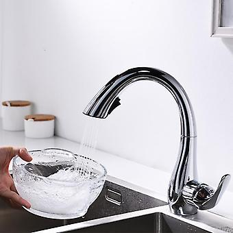 Chrome Plating Goose Neck Faucets With Sprayer