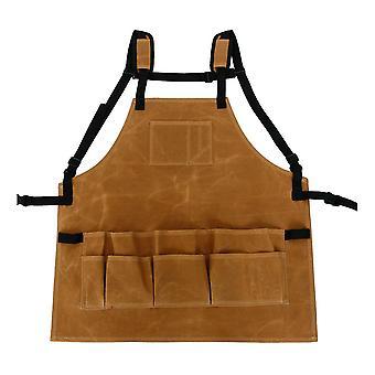 Puutarhatyökalu esiliina säädettävä vyötärö taskut vedenpitävä kangas kotiin järjestäjä