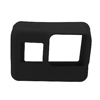 Zachte siliconen behuizing geval beschermende hoes en lens cap voor GoPro Hero 5 camera ZWART
