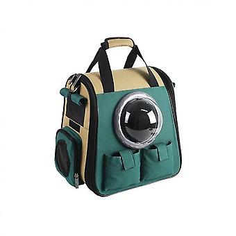 Dog Backpack Cat Carrier With Bubble, Ventilated Breathable Design Dog Cat Bag For Travel Hiking