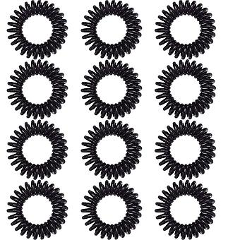 10pcs Spiral Hair Ties Ponytail Holders No Crease Elastic Rubber Bands For All Hair Types