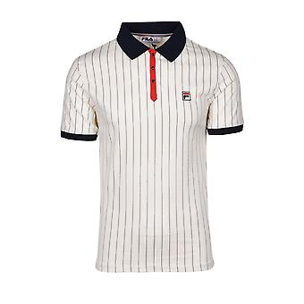 Fila Vintage Fred Perry Classic Vintage Striped Polo Shirt Whisper White/ Peacoat Chinese