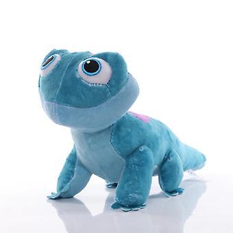 Frozen 2 Bruni Elsa Olaf Toys Chameleon Anime Cartoon Figure Keychain Pendant