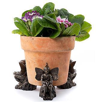 Potty Feet Flower Fairies Elm Tree Fairy Plant Pot Feet Bronze Color Set Of 3