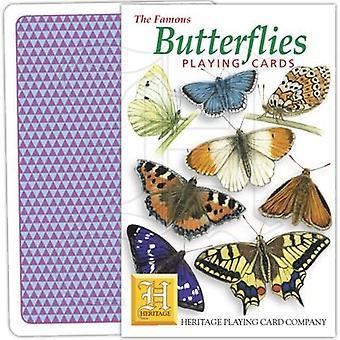 Papillons par cartes à jouer patrimoniales