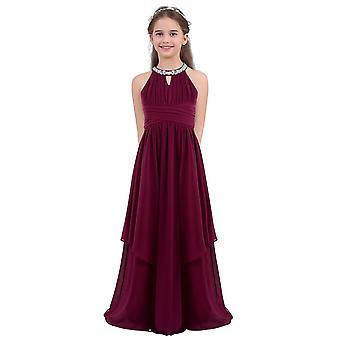 Mädchen Kleid Ärmellose Hochzeitsfeier Kleid Pailletten Halter Blumenkleid