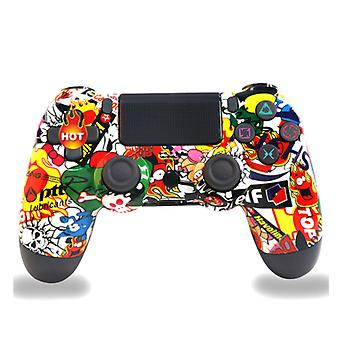 Wireless PS4 Controller Bluetooth Gamepad For PlayStation 4 Pro/Slim/PC/Android/IOS/Steam/DualShock 4 Game Joystick Graffiti 8