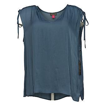 فينس كاموتو المرأة الأعلى الرباط الكتف مفصلة بلوزة الأزرق 661339B