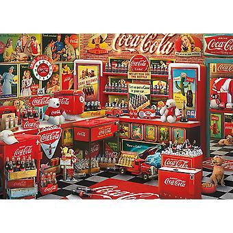 Schmidt Coca Cola Nostalgisk butik besök pussel (1000 stycken)