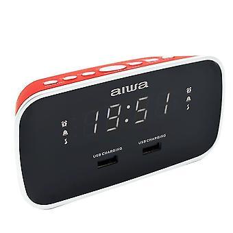 Radios cru-19 radio alarm clock cru-19rd red digital usb charge -red