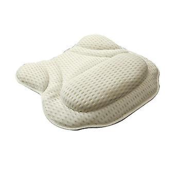 Kylpyamme tyyny Hengittävä Pesä Kylpyhuone Liukumaton Butterfly Shape Tyyny (40 * 40cm)(Keltainen)