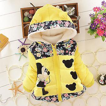 Kid Girl Minnie Gepolsterter Mantel Kapuze Puffer Jacke Winter Warm Outerwear