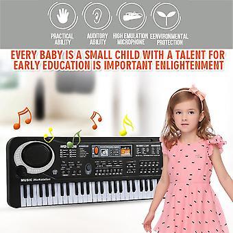 Microphone de musique 61 touches Piano électronique Instrument de musique portable Jouet de clavier pour enfants