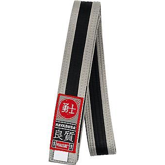 Hayabusa ungdom Jiu-Jitsu belte - grå/svart