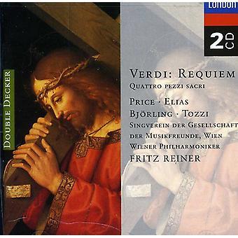 Precio/Reiner/Viena Philharmonic orquesta - Verdi: Requiem [CD] USA importar