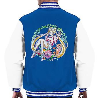 Blume Moon Sailor Männer Varsity Jacket