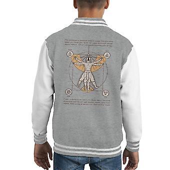 Vitruvian Aang Dragonball Z Kid's Varsity Jacket