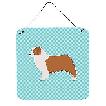 لوح شطرنج الأسترالي الراعي الكلب الأزرق الجدار أو الباب معلقة يطبع