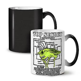 Insect Science Fly NEW Black Colour Changing Tea Coffee Ceramic Mug 11 oz | Wellcoda