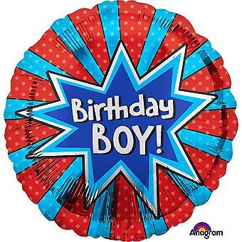 جناس 18 بوصة عيد ميلاد الصبي انفجار دائرة إحباط بالون