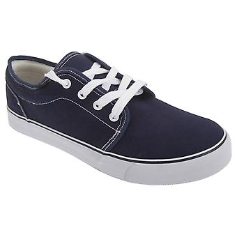 Dek Boys 4 Eye Padded Canvas Deck Shoes