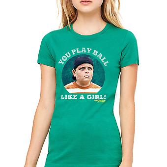 Sandlot Ball Like A Girl Men's Kelly Green T-shirt