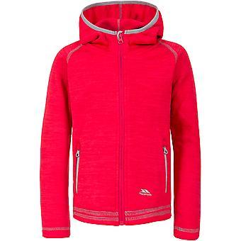 Trespass Girls Goodness Polyester Full Zip Hooded Fleece Jacket Coat