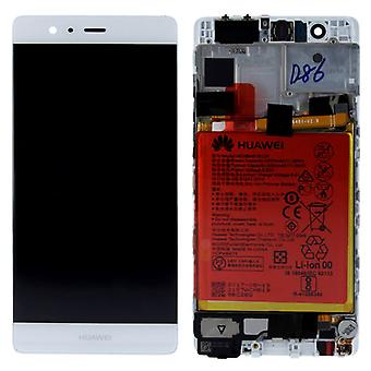 Huawei display LCD unit + frame for P9 Service Pack 02350RKF white