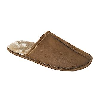 SlumberzzZ Mens Microsuede Plush Lining Mule Slippers